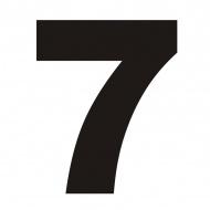 Numer na dom DekoSign 7 czarny