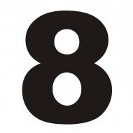 Numer na dom DekoSign 8 czarny