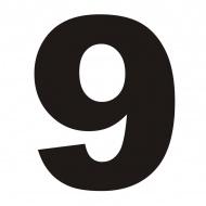 Numer na dom DekoSign 9 czarny