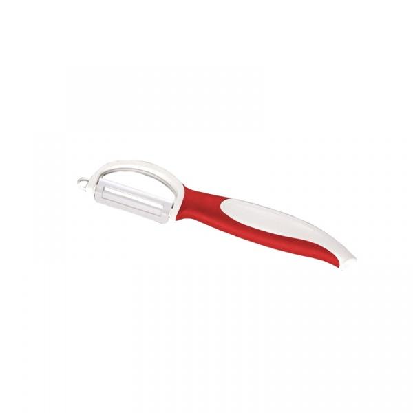 Obierak ceramiczny z ruchomym ostrzem 18,5 cm Zassenhaus czerwony ZS-070200-CZE