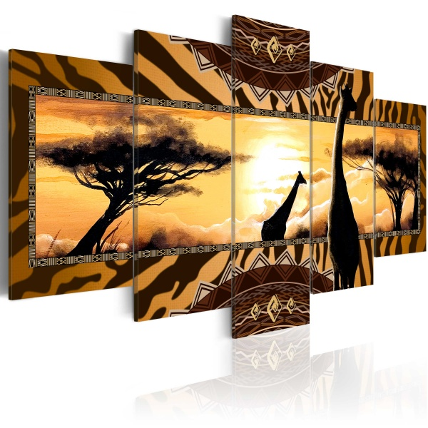 Obraz - Afrykańskie żyrafy (100x50 cm) A0-N3375