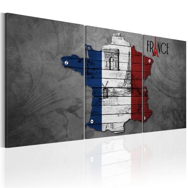 Obraz - All about France (60x30 cm) A0-N2072
