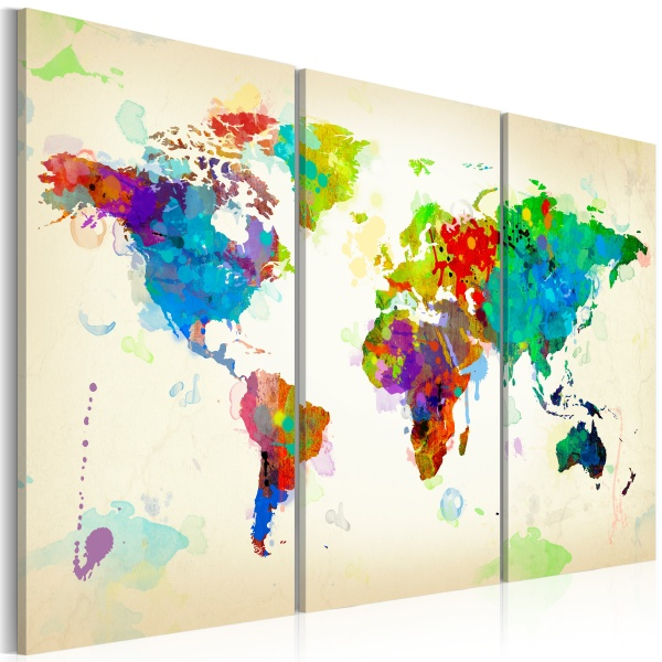Obraz - All colors of the World - triptych (60x40 cm) A0-N2531