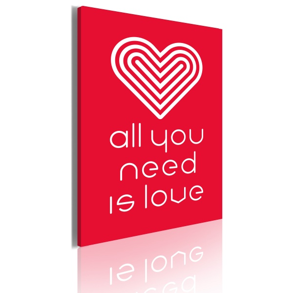 Obraz - All you need is love (50x70 cm) A0-OBRPLK5