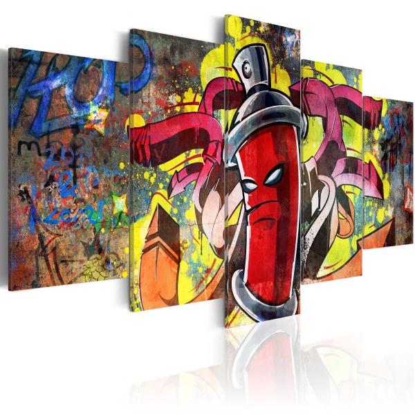Obraz - Angry spray can (100x50 cm) A0-N2610