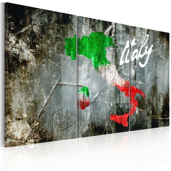 Obraz - Artystyczna mapa Włoch - tryptyk (60x40 cm) A0-N2119