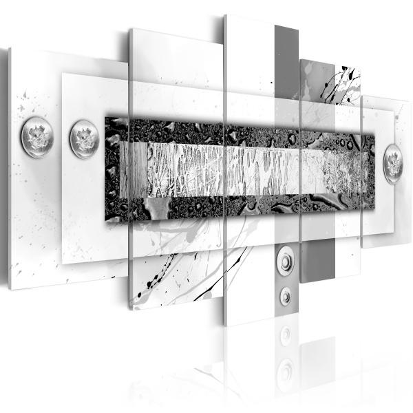 Obraz - Balans szarości (100x50 cm) A0-N2885