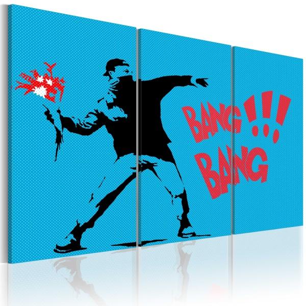 Obraz - Bang bang! - triptych (60x40 cm) A0-N2222
