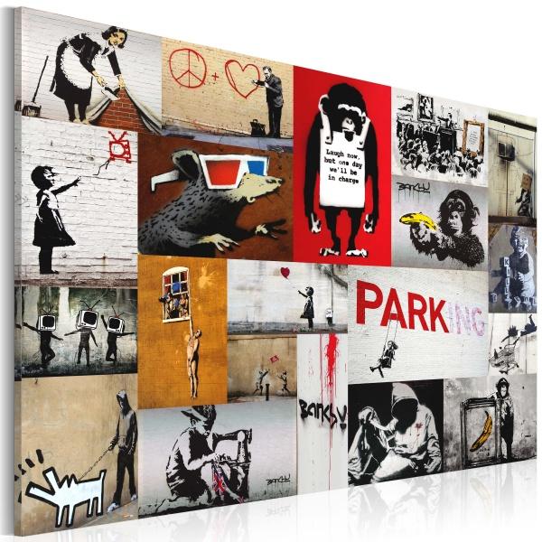 Obraz - Banksy - kolaż (60x40 cm) A0-N2946