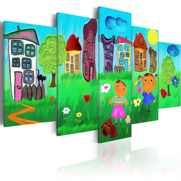 Obraz - Beztroskie dzieciństwo (100x50 cm) A0-N2463