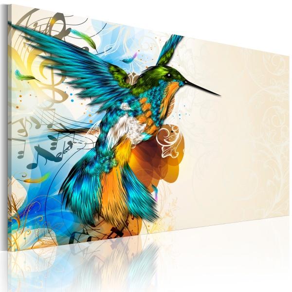 Obraz - Bird's music (60x40 cm vlies-leinwand cm) A0-N2711