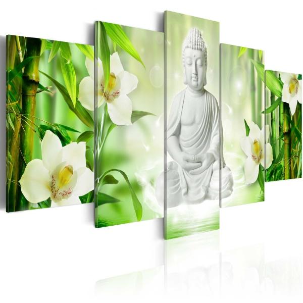 Obraz - Budda i jaśmin (100x50 cm) A0-N3396
