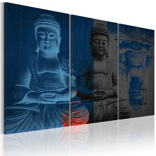 Obraz - Budda - rzeźba (60x40 cm) A0-N2290