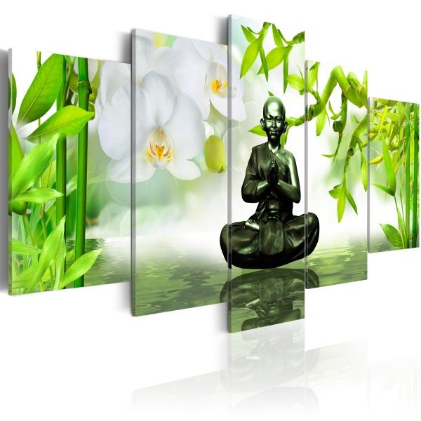Obraz - Budda z mosiądzu (100x50 cm vlies-leinwand cm) A0-N2659