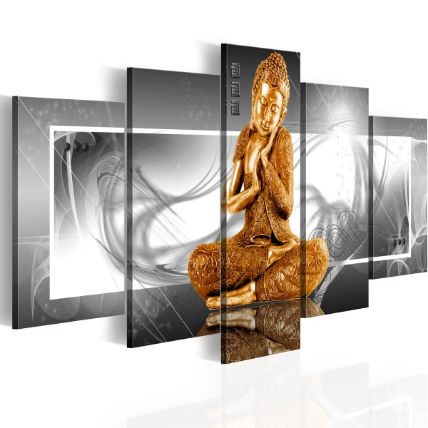 Obraz - Buddyjska modlitwa (100x50 cm) A0-N2738