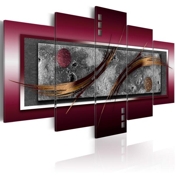Obraz - Burgundowa elegancja (100x50 cm) A0-N2743