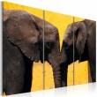 Obraz - Całus pary słoni A0-N1528