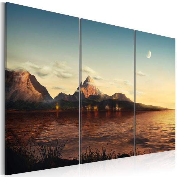 Obraz - Ciepły wieczór w górach (60x40 cm) A0-N2590
