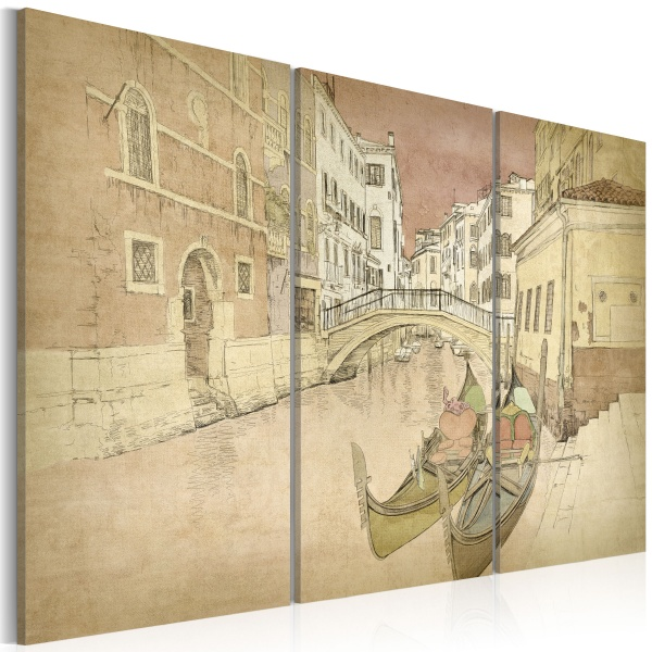 Obraz - City of lovers - triptych (60x40 cm) A0-N2209