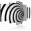 Obraz - Czarno-biała dziura A0-N1426