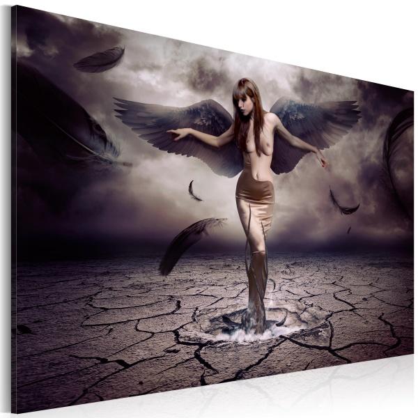 Obraz - Czarny anioł (60x40 cm) A0-N2816