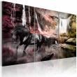 Obraz - Czarny koń przy wodospadzie A0-N1661