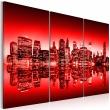 Obraz - Czerwona poświata nad Nowym Jorkiem A0-N1822