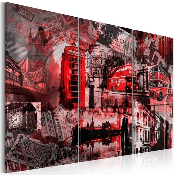 Obraz - Czerwony Londyn (60x40 cm) A0-N1858