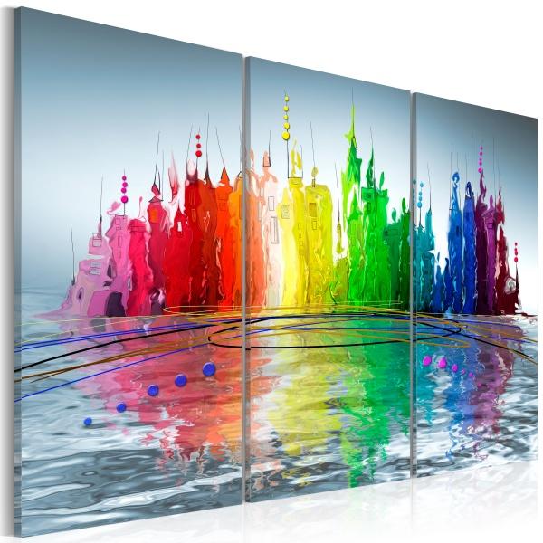 Obraz - Domki na wodzie (60x40 cm) A0-N2618