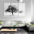 Obraz - Drzewa zanurzone w bieli A0-N1389