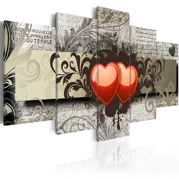 Obraz - Dwa serca, jedna myśl... (100x50 cm) A0-N2969