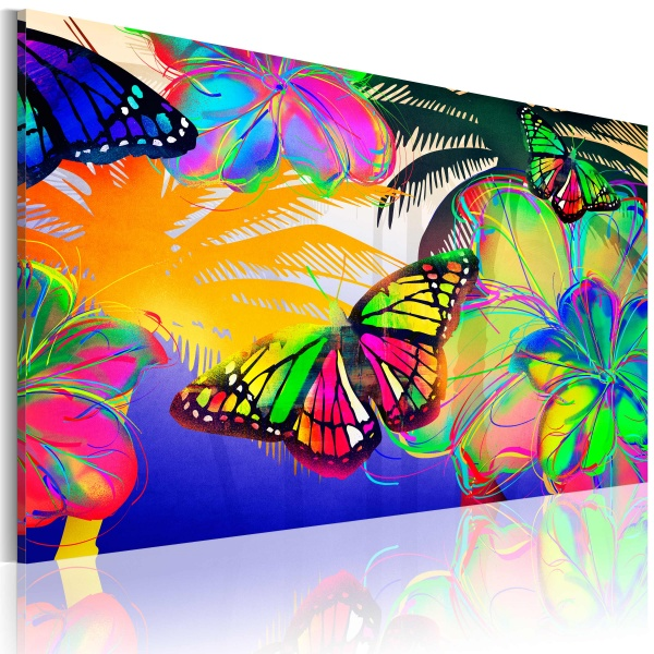 Obraz - Egzotyczne motyle (60x40 cm vlies-leinwand cm) A0-N2709
