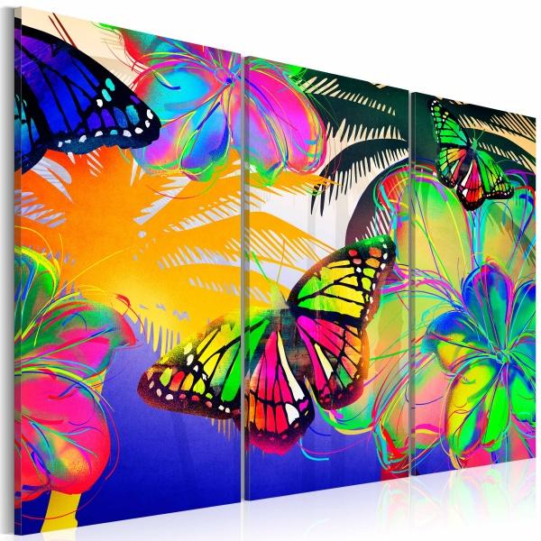 Obraz - Egzotyczne motyle - tryptyk (60x40 cm) A0-N2689