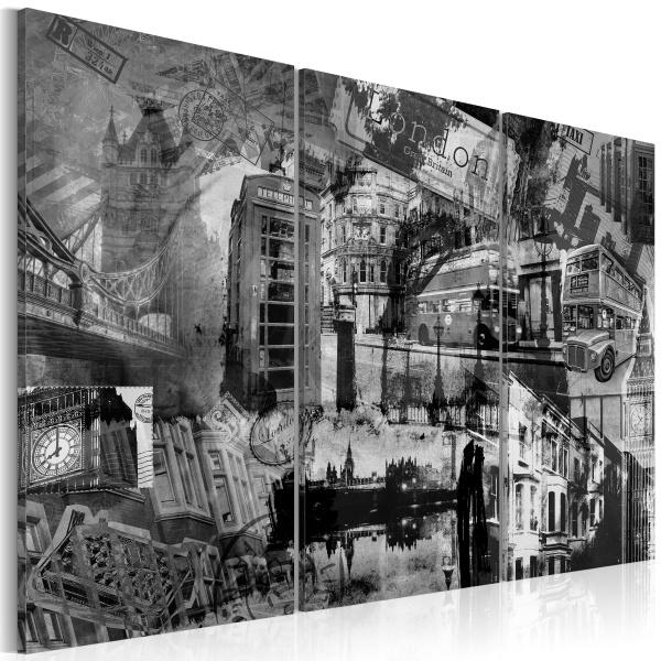 Obraz - Esencja Londynu - tryptyk (60x40 cm) A0-N1857