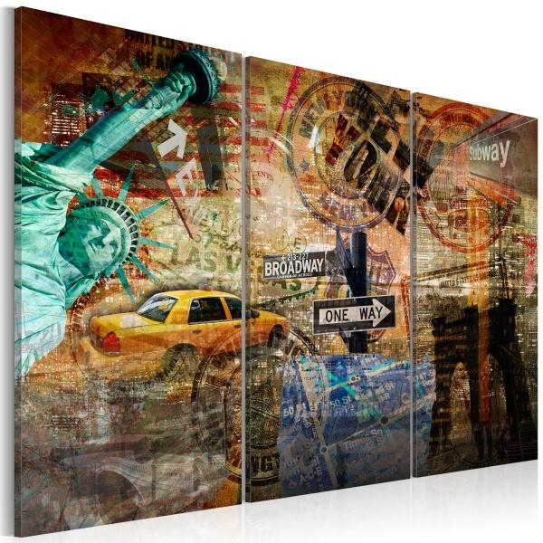 Obraz - Esencja Nowego Jorku (60x40 cm) A0-N1861