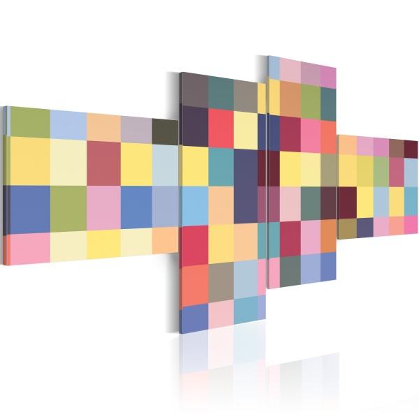 Obraz - Estetyka barw (100x45 cm) A0-N2328