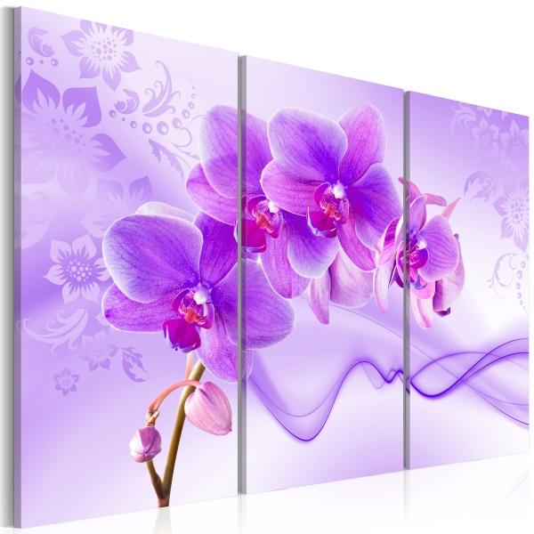 Obraz - Eteryczna orchidea - fiolet (60x40 cm) A0-N2977