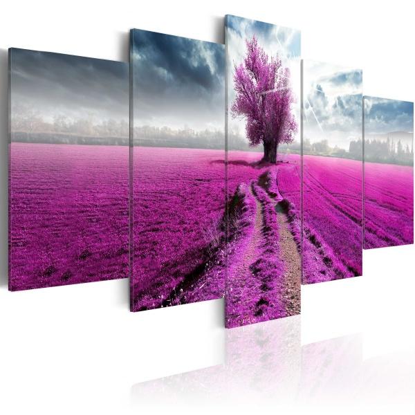 Obraz - Fioletowa kraina (100x50 cm) A0-N3776