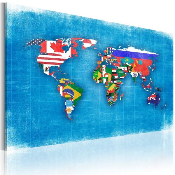 Obraz - Flagi świata (60x40 cm) A0-N2153