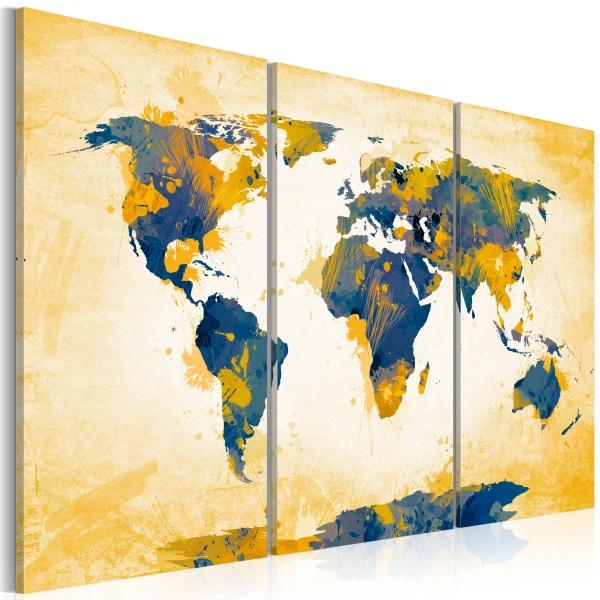 Obraz - Four corners of the World - triptych (60x40 cm) A0-N2526