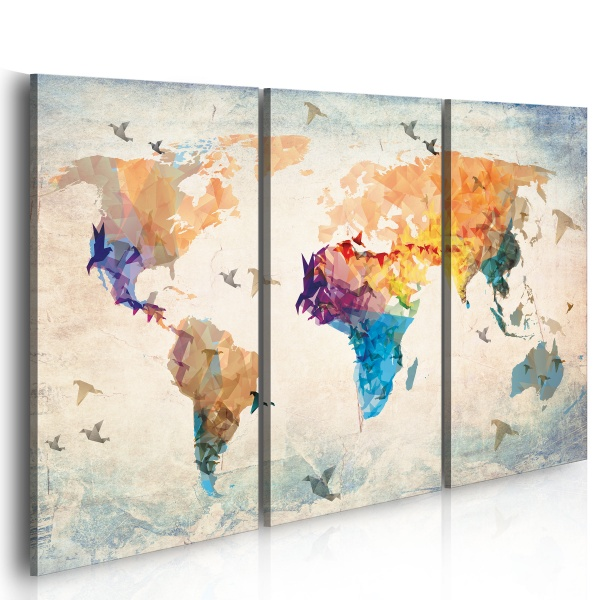 Obraz - Free as a bird - triptych (60x40 cm) A0-N2320