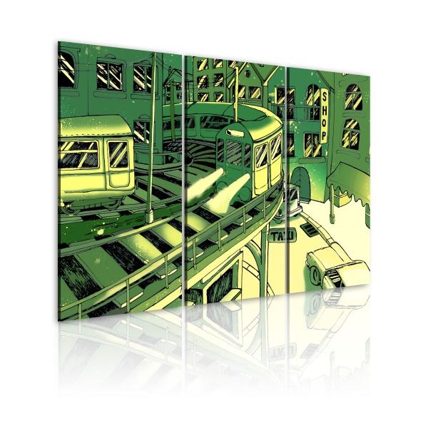 Obraz - Futurystyczna stacja kolejowa (60x40 cm) A0-N2210