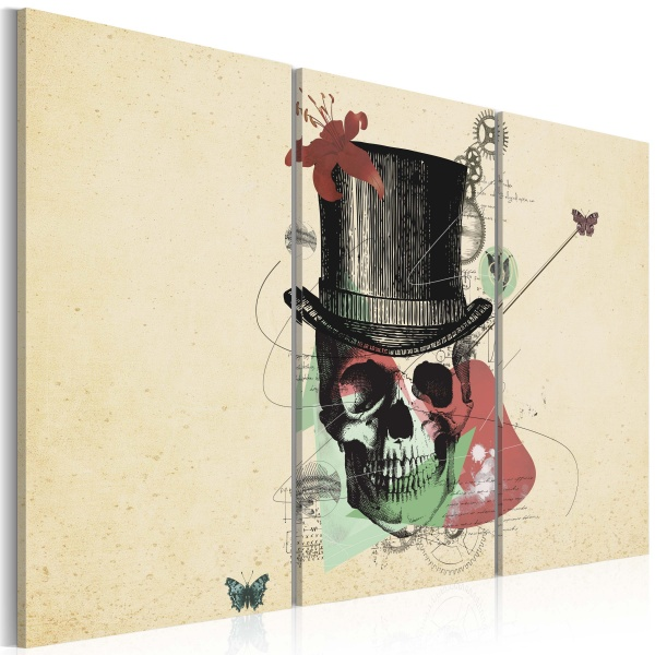 Obraz - Gentleman's skeleton (60x40 cm) A0-N2594