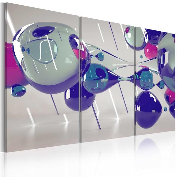 Obraz - Glass bubbles - triptych (60x40 cm) A0-N2337