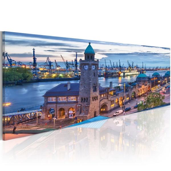 Obraz - Hamburg - port (120x40 cm) A0-N2564