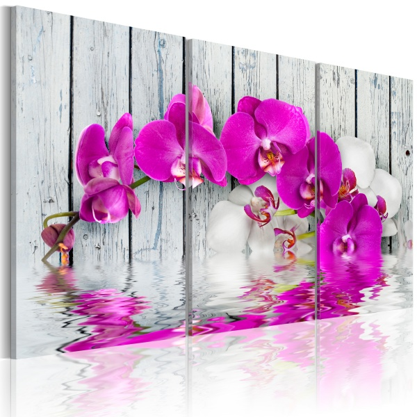 Obraz - harmonia: orchidea - tryptyk (60x40 cm) A0-N2250