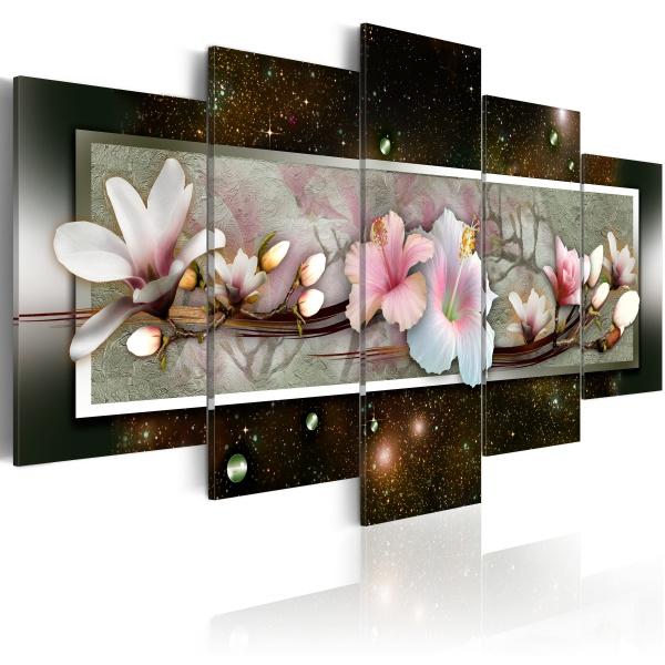 Obraz - Hibiskus - motyw abstrakcyjny (100x50 cm) A0-N2424