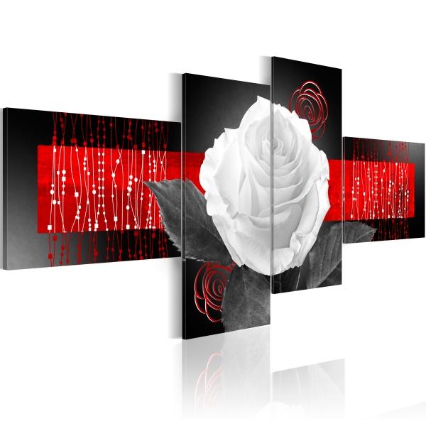 Obraz - Historia róży (100x45 cm) A0-N3052