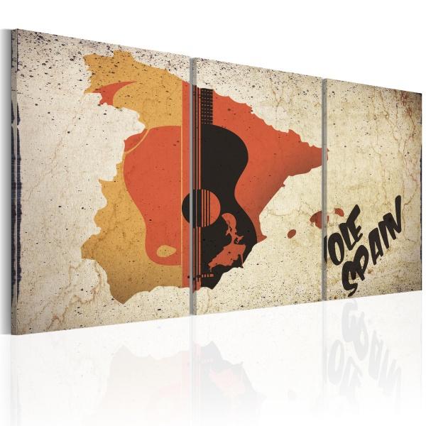 Obraz - Hiszpania: gitara i flamenco (60x30 cm) A0-N2067
