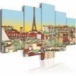 Obraz - Idylliczny obrazek Paryża A0-N1778